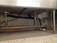 we do commercial sink repipes